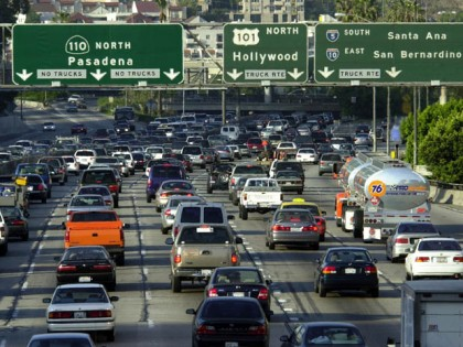 Los Angeles traffic jam
