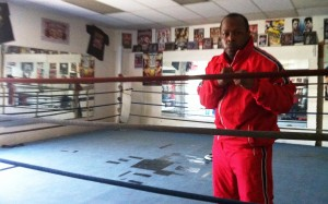 "Professional boxer William ""Tyson"" Harmon trains at Main Event Boxing in Fresno."